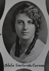 Adele Gertrude Carson, 1931