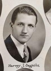 Harvey J. Segnitz, in 1931, The Plymouth High School class