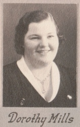 Dorothy Mills, 1934, about 18 years old