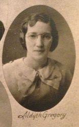 Aldyth Gregory, 1935 class of Macon High School in Illinois