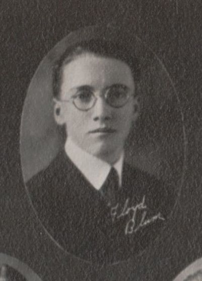 Floyd Blum, 1923 Liberty Union High School in Ohio
