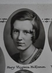 Mary Virginia McKinnon, 1931, Plymouth High School