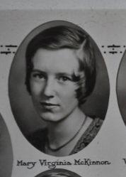 Mary Virginia McKinnon, 1931, Plymouth High School