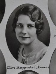 Olive Margarete L. Bowers, 1931