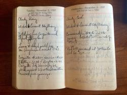 Henry Gilbert's 1937 Diary